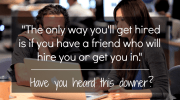 """Has anyone ever told you, """"Agree/disagree: """"The only way you'll get hired is if you have a friend who will hire you or get you in""""? This post is for you #lifeafterteaching #teachers"""